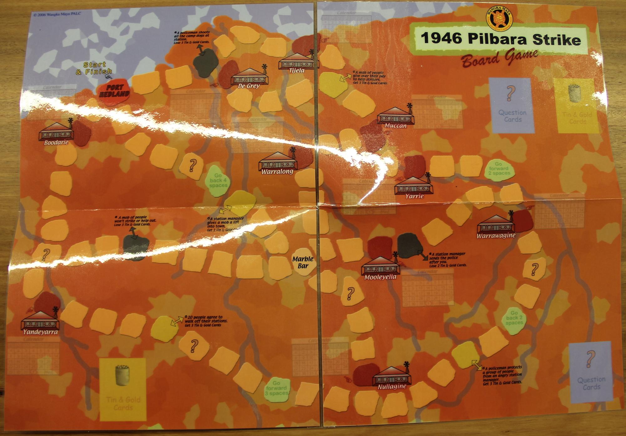 The 1946 Pilbara Strike Game Board