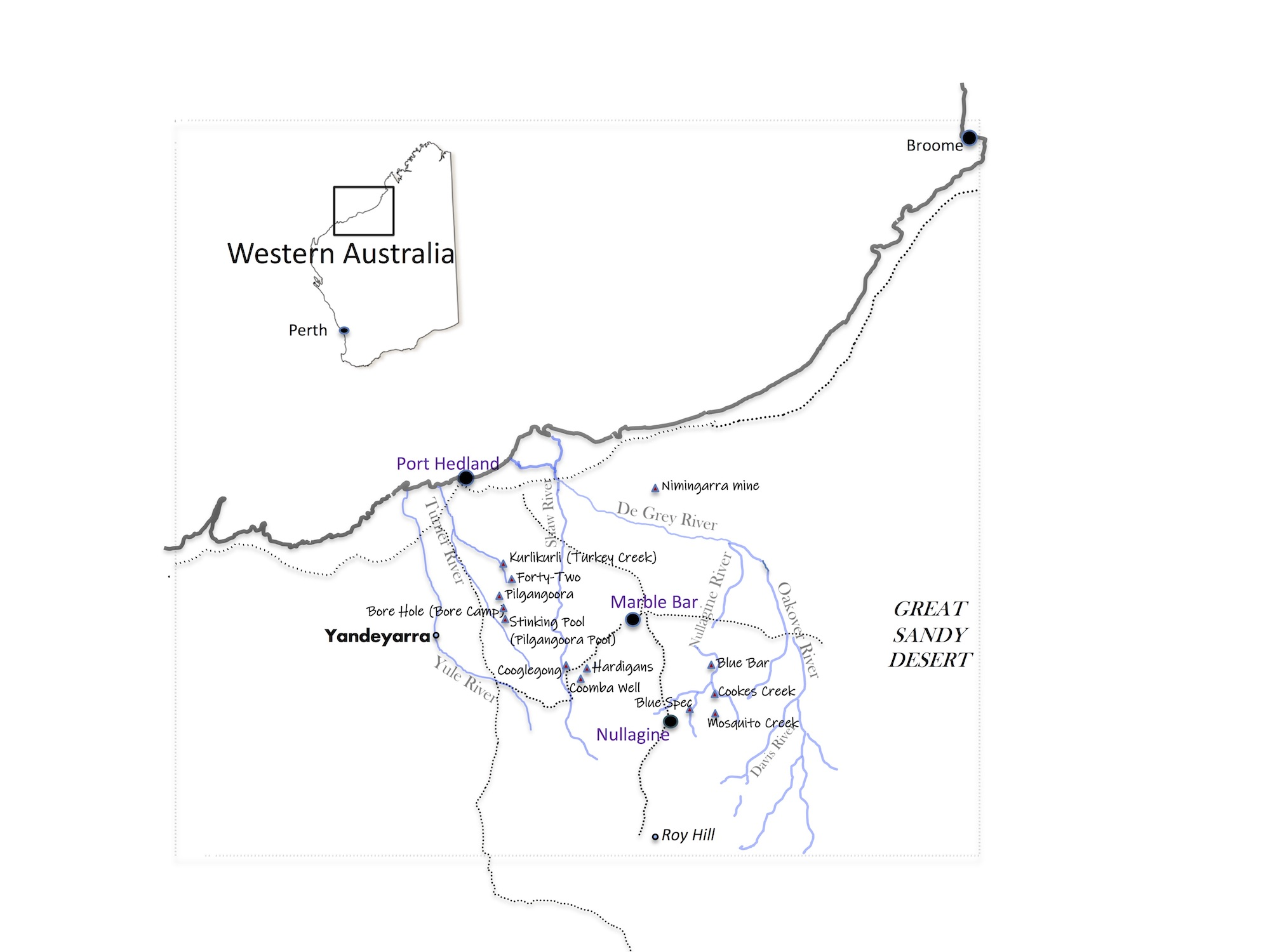 Map of mines