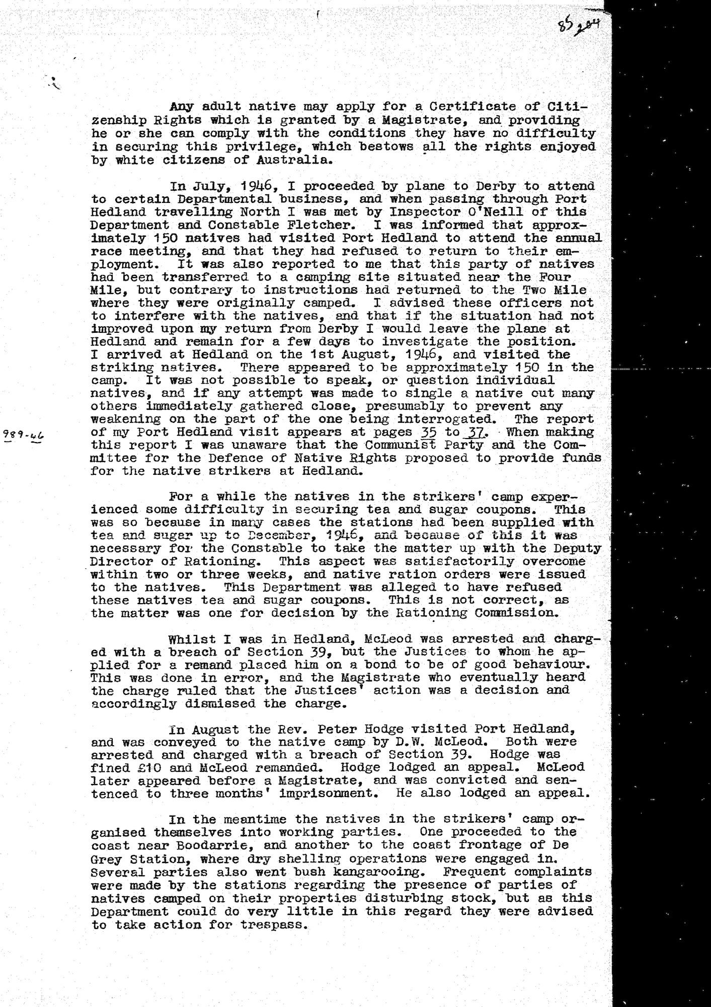 McBeath to McDonald, 9 April 1947