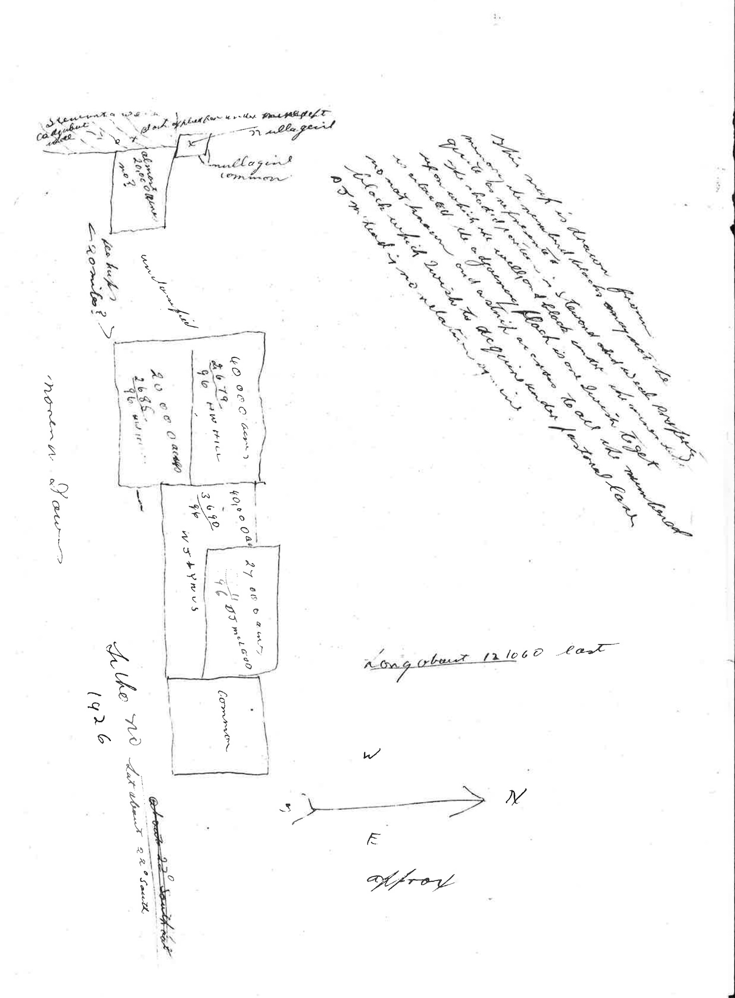 Sketch of Land for Aboriginal Pastoral Station
