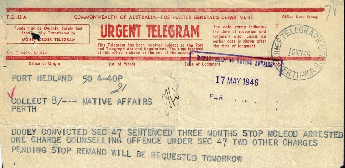 O'Neill to Bray, 17 May 1946