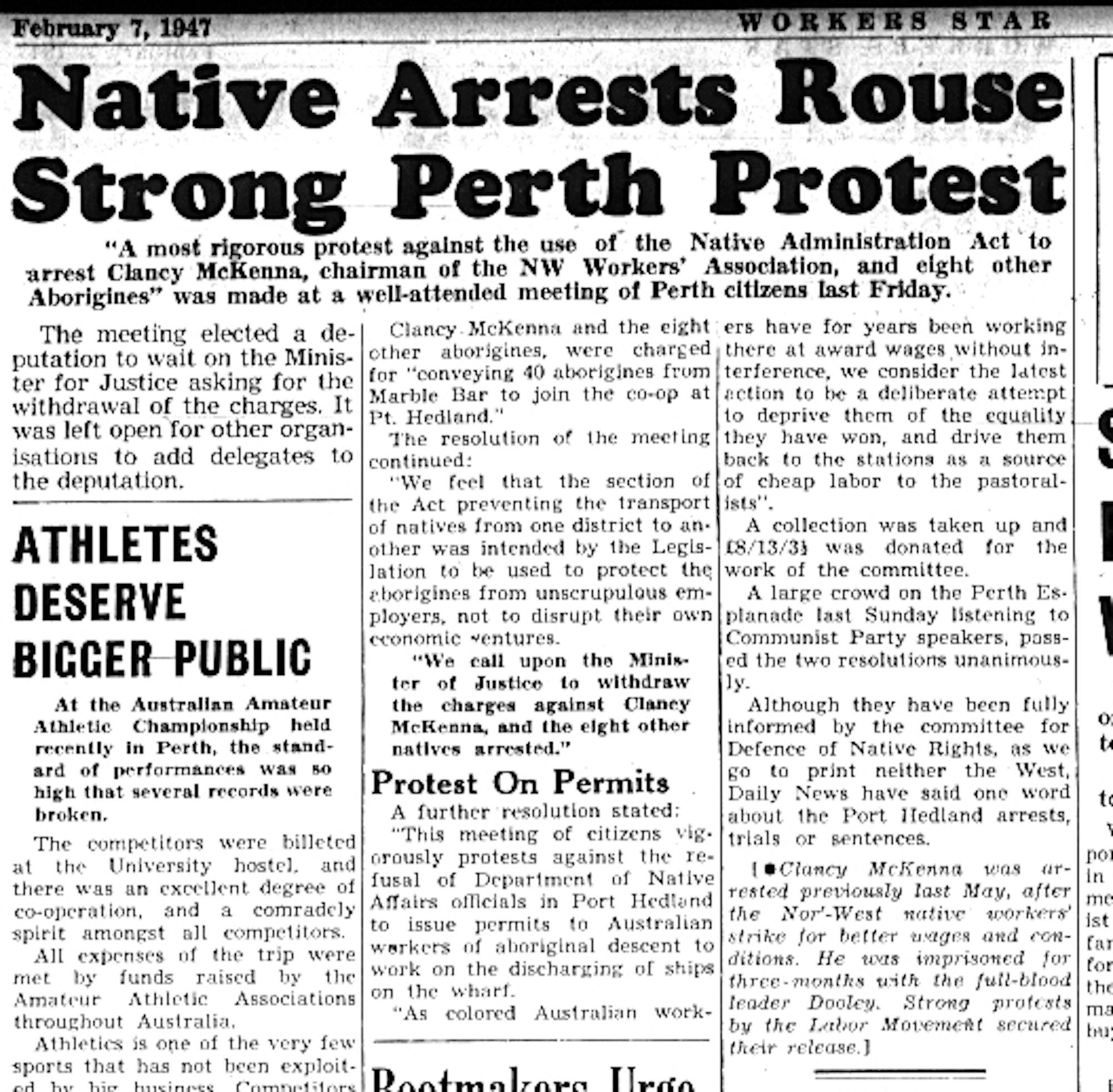 Native Arrests Rouse Strong Perth Protests